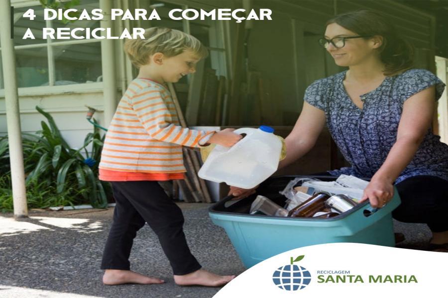 Quatro dicas para começar a reciclar