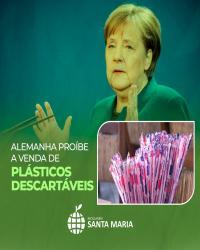 Alemanha proíbe a venda de plásticos descartáveis